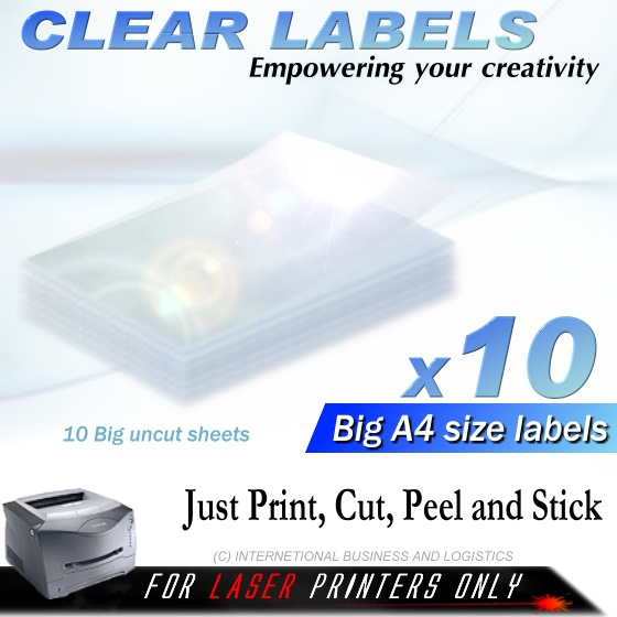 Clear Labels - Ibl Ali Clearselfadhesivelabelstickers Minidisplaypicture