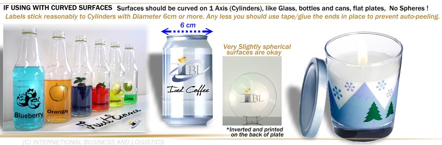 Remarkable image in clear printable labels for glass