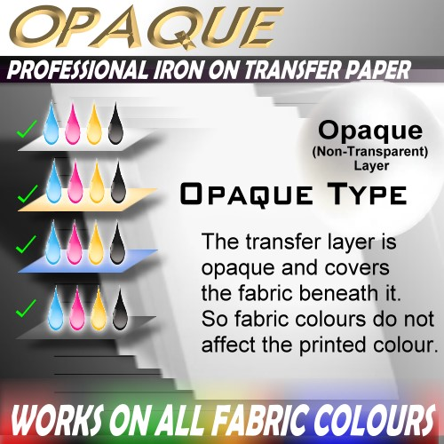 26-OW-Sheets-Blank-IRON-ON-HEAT-TRANSFER-INKJET-PRINTER-PAPER-DARK-SHIRT-FABRIC