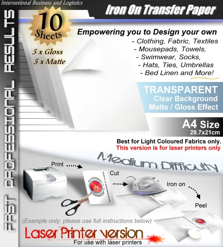 laser transfer paper Dharma trading co - transfer paper - create, print and transfer it's that easy.